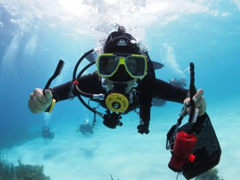 cleaning bonaire reef